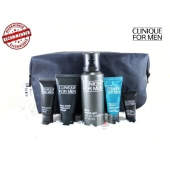 6 Piece Clinique Gift Set for Men Mans Travel Weekend Includes Moisturizing Lotion Aloe Shave