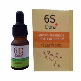 รีวิว 6D Dora โทนเนอร์สลายฝ้า กระ 10g. (1 ขวด) + 6S Dora+ micro essence protein serum 15g. (1 กล่อง)