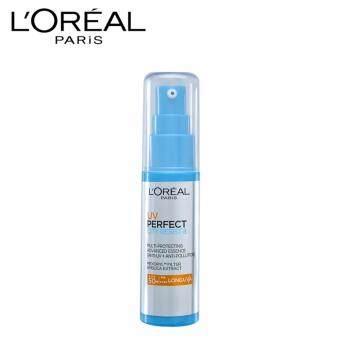 ลอรีอัล ปารีส ยูวี เพอร์เฟ็คท์ ซิตี้ รีซิสท์ 8 ลอง ยูวีเอ SPF50+/PA++++ ครีมกันแดดสำหรับผิวหน้า 30 มล. L'OREAL PARIS UV PERFECT CITY RESIST 8 MULTI-PROTECTING ADVANCED ESSENCE LONG UVA SPF50+/PA++++ 30 ml