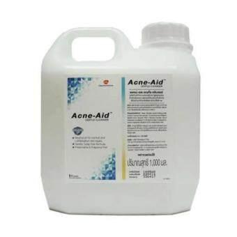 Acne Aid Gentle Cleanser 1000 ml (สีฟ้า) สูตรอ่อนโยน สำหรับผิวแพ้ง่าย