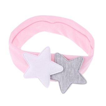 Adjustable Baby Girls Cotton Soft Five-pointed Star Headband Hair Accessory(Pink) - intl