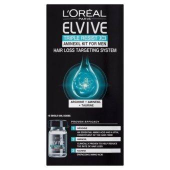 แก้ปัญหาผมบางสำหรับผู้ชาย L'Oreal Elvive Triple Resist Aminexil Kit 6 ml - Pack of 10