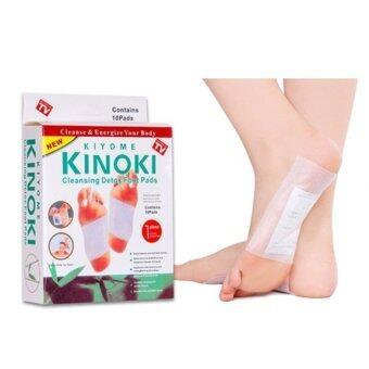 แผ่นแปะเท้าล้างสารพิษ KINOKI Foot Pads สปาเท้า ช่วยขจัดสารพิษในร่างกาย คลายอาการเครียด 1 กล่อง 10 แผ่น