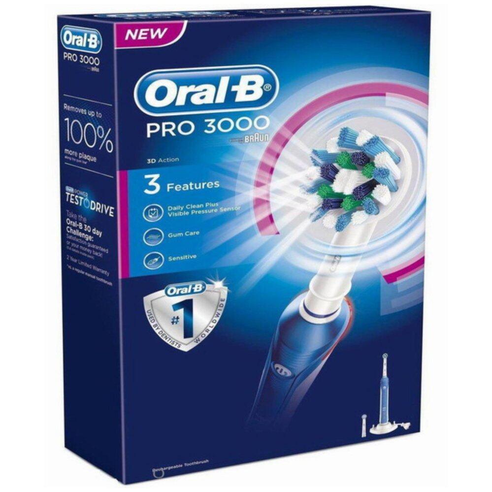 แปรงสีฟันไฟฟ้า รอยยิ้มขาวสดใสใน 1 สัปดาห์ นครสวรรค์ แปรงสีฟันไฟฟ้า Oral B Pro 3000 Power Rechargeable  Braun
