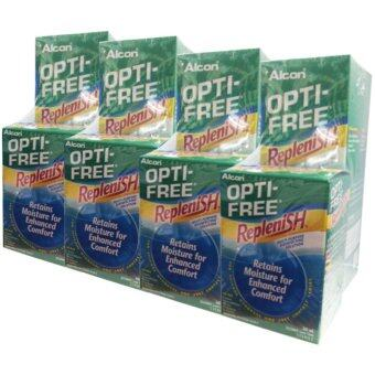 ALCON OPTI-FREEReplenish สูตรใหม่ ขนาด 300 ml. (4 กล่อง) แถมฟรี Opti freeReplenish ขนาด 60 ml. (4 ขวด)