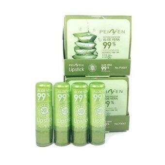 Aloe Vera Soothing gel aloe vera 99% Lipstick ลิปสติกว่านหางจระเข้ ลิปเปลี่ยนสี 3.5g (4 แท่ง)
