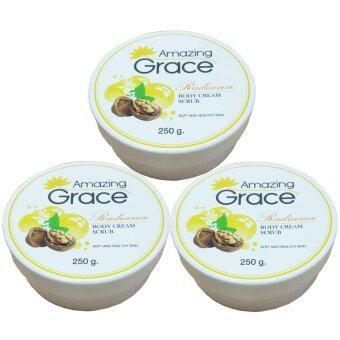 ต้องการขาย Amazing Grace with Radiance Body Cream Scrub สครับขัดผิวกาย 250 ml3กระปุก