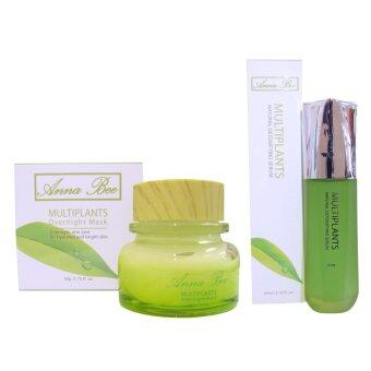 Anna Bee Multiplants Overnight Mask 50g.& Anna Bee Multiplants Natural Detoxifying serum 60ml