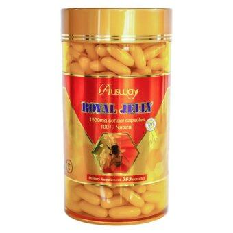 Ausway Royal Jelly 1500 mg 100% Natural บรรจุ 365 ซอฟต์เจล (นมผึ้ง Ausway)