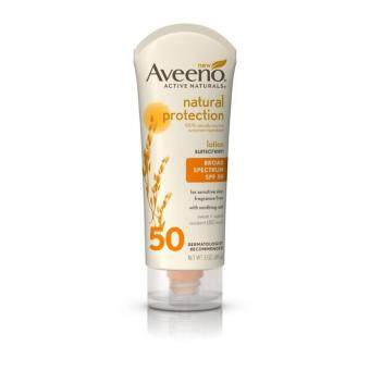 Aveeno Natural Protection Lotion Sunscreen with Broad Spectrum SPF 50 (85g) โลชั่นกันแดด ปราศจากน้ำหอม