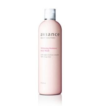 Aviance ครีมอาบน้ำเพิ่มความสดชื่น ไร้ไขสบู่100% Whitening Moisture Body Wash 380 ml