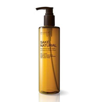 Aviance เจลอาบน้ำสาเกสูตรพิเศษSake Natural Nourishing Day &Night pH Balance Body Wash 290 ml
