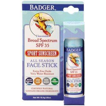 Badger Company All Season Face Stick Sport Sunscreen SPF 35 (18.4 g) ครีมกันแดดสำหรับทาหน้า