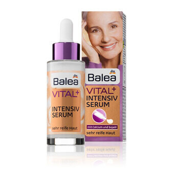 Balea VITAL+ Intensive Serum 30ml. ซีรัมบำรุงผิวหน้าสำหรับผู้ใหญ่สูงวัย