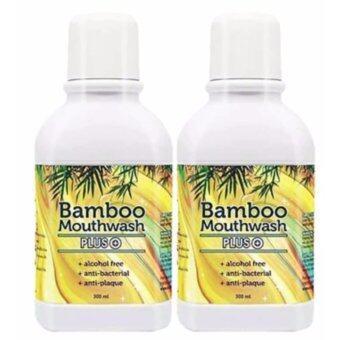 Bamboo Mouthwash Plus น้ำยาบ้วนปาก แบมบูเม้าท์วอช พลัส หมดปัญหากลิ่นปาก คราบพลัค หินปูน ( 2 ขวด )
