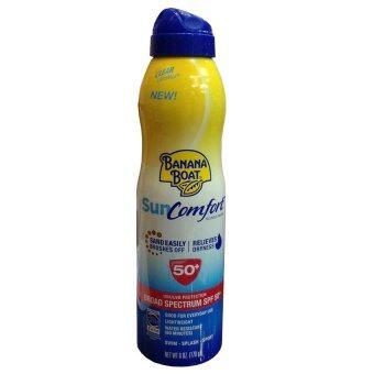 Banana Boat Sun Comfort Clear UltraMist Sunscreen SPF50 PA+++สเปรย์กันแดดสำหรับปกป้องผิว 170g. (1 ขวด)