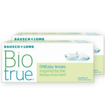 BauschLomb Biotrue one day (แพ็ค 30) โปร 2 กล่อง contact lens 1day