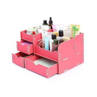 Beauty Cabinet กล่องเก็บเครื่องสำอางค์ รุ่น Beauty-006 (สีชมพูเข้ม)