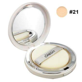 Beauty Credit lovely Q10 Sun Pact SPF50 แป้งม้าโยกตลับสีขาว ปริมาณ 14g. NO.21 สำหรับผิวขาวเหลือง