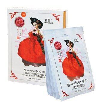 Belov MING KOU MILK ROSE FACIAL MASK ( มาส์กเจ้าหญิงสูตรนม + กุหลาบ) 1 กล่อง บรรจุ 10 ชิ้น