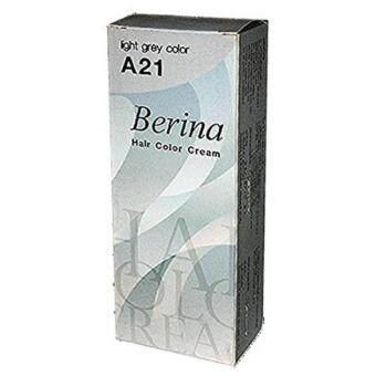 อยากขาย Berina A21 เบอริน่า สีเทาอ่อน ครีมเปลี่ยนสีผม 60 ML.1 กล่อง
