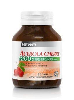 BEWEL ACEROLA CHERRY 1200 MG 45 TABLETS บีเวล อะเซโรล่า เชอร์รี่ 45 เม็ด