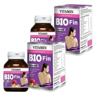 Bio Fin Vitamin 3in1 Premium อาหารเสริมสำหรับผู้หญิง คืนความสาว ผิวพรรณเปล่งปลั่ง ขนาด 30 เม็ด (2 กล่อง)