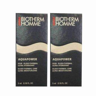 Biotherm Homme AQUAPOWER Oligo Thermal Care Ultra Moisturizing 5ml (2 กล่อง)