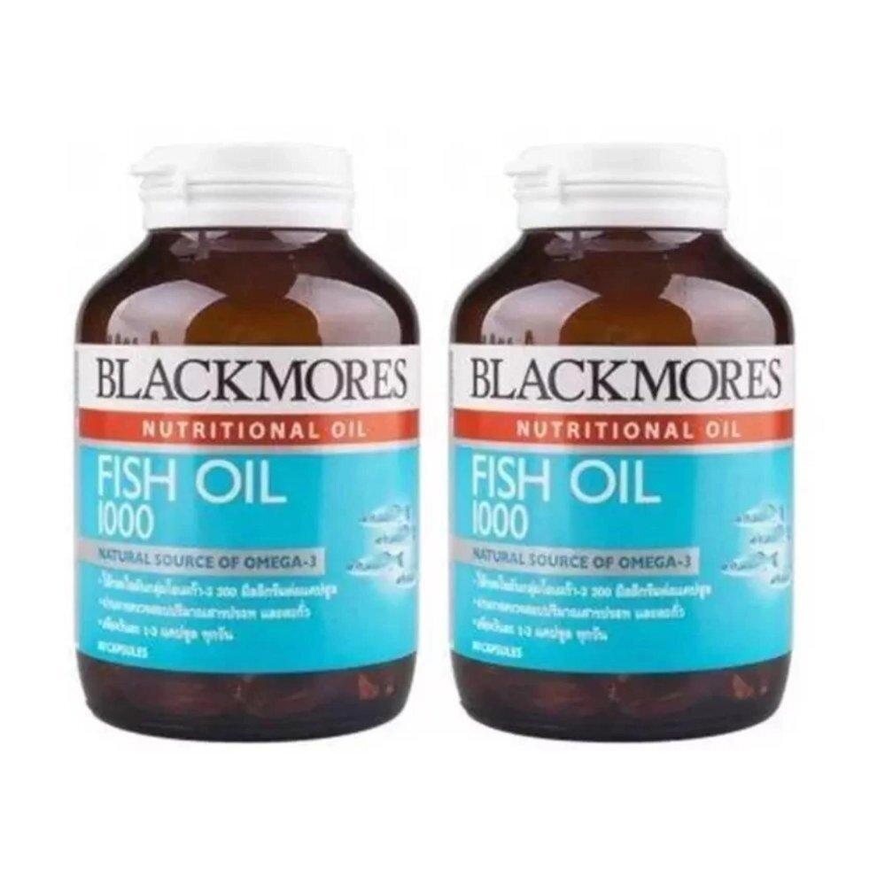 ประจวบคีรีขันธ์ Blackmores Fish Oil น้ำมันปลา 1000 mg. 80 แคปซูล (2 ขวด