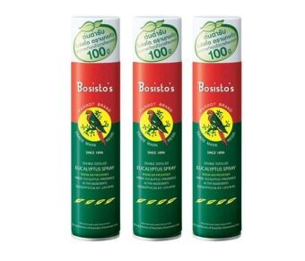 Bosisto's Parrot Eucalyptus Spray น้ำมันยูคาลิปตัส นกแก้ว ชนิดสเปรย์ 300 ml. (3กระป๋อง)