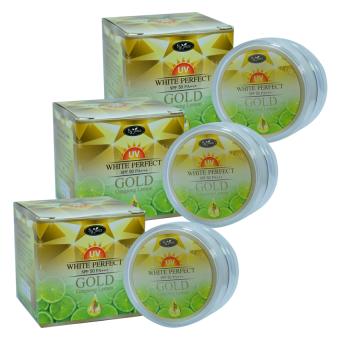 By Jeezz Gold Ginseng Lemon White Perfect ครีมกันแดด โกลด์ จินเส็งเลม่อนไวท์ เฟอร์เฟค SPF50PA+++ ขนาด 10 กรัม (3 กล่อง)