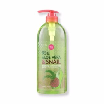 Cathy Doll Aloe Vera & Snail Soothing Body Bath Gel 750mlครีมอาบน้ำเด้ง