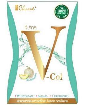 Chame' V Col Detox อาหารเสริมดีท็อกซ์ ชาเม่ วีคอล ไฟเบอร์คลอโรฟิลล์โดย เชียร์ ฑิฆัมพร ขับสารพิษ 1 กล่อง (7 ซอง/กล่อง)