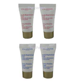 Clarins extra firming day cream 5ml and night cream 5ml for all skin type (2 เซ็ต) ครีม