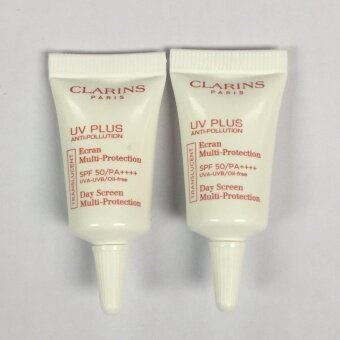 Clarins UV Plus Anti-Pollution Day Screen SPF 50/PA++++ 3 ml (2 หลอด)