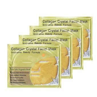 แผ่นมาร์คหน้าทองคำ Collagen Crystal Facial Mask 4 แผ่น