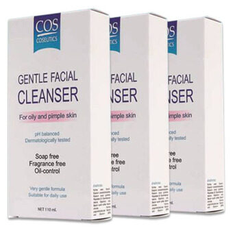 COS Gentle Facial Cleanser For Oily And Pimple Skin สำหรับผู้ที่เป็นสิว ผิวมัน 110 ml. (3ขวด)