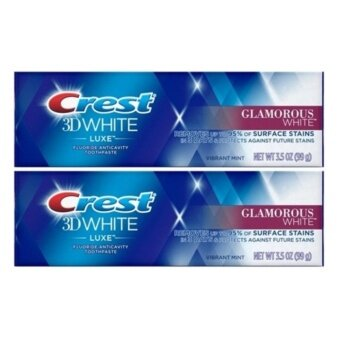 Crest 3D white luxe fluoride anticavity toothpaste Removes up to 95% of stains in 3 daysProtects against future stains Whitening Toothpasteขนาด 99 g. x2ชิ้น