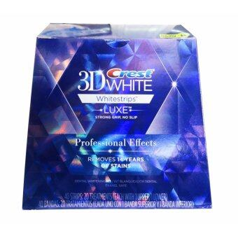 แผ่นฟอกฟันขาว Crest3D White Whitestrip LUXE Professional Effects
