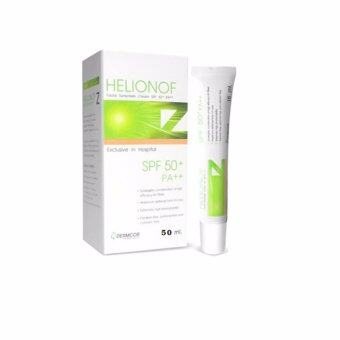Dermcor Helionof Z Facial Sunsereen Cream SPF 50+ PA++ 15ml เฮลิโอนอฟ แซด ผลิตภัณฑ์ป้องกันแสงแดดสำหรับผิวหน้าสูตรพัฒนาสำหรับโรงพยาบาล และคลินิก ขนาด 15 ml/หลอด(1หลอด)
