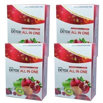 Detox all in one ดีท๊อกซ์ ออลล์ อิน วัน 4 กล่อง (10 ซอง/กล่อง)