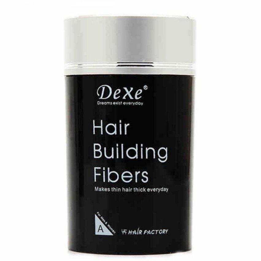 Dexe Hair Building Fiber ไฟเบอร์เพิ่มผมหนา ปิดผมบาง ขนาด 22 กรัม (สีดำ)