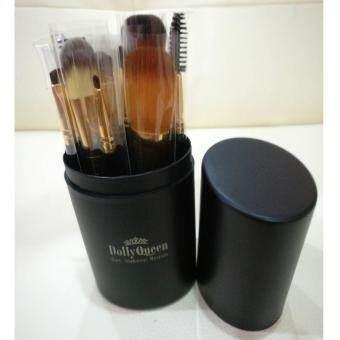 Dolly Queen ชุดแปรงแต่งหน้า 12 ชิ้น พร้อมกล่องจัดเก็บ Set MakeupBrush สีดำ