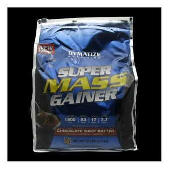 DYMATIZE SUPER MASS GAINER 12 LB (BAG) Rich Chocolate สำหรับคนผอมกุ้งปห้ง อยากเพิ่มน้ำหนัก และกล้ามเนื้อ