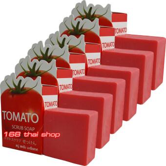 Easy Aura Tomato Scrub Soap สบู่มะเขือเทศ ก้อนละ 50 กรัม x 6 ก้อน