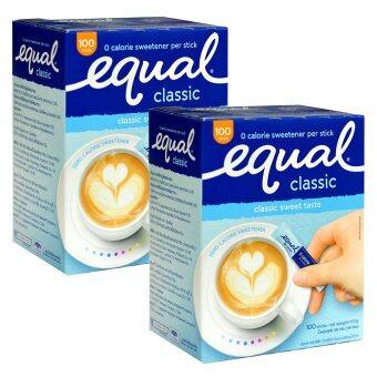 Equal อิควลชนิดผง ให้ความหวานแทนน้ำตาล 100ซอง 2 กล่อง