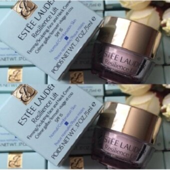 Estee lauder Resilience Lift Firming/Sculpting Face Day Creme SPF 15 (5ml x 2 กล่อง)