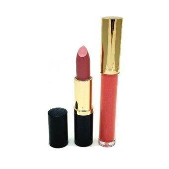 ESTEE LAUDER Set ลิปสติก ขนาดปกติ #61 pink parfait shimmer + lip gross# Racy Rasbeery