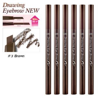 จัดโปรโมชั่น Etude House ดินสอเขียนคิ้ว (New) #No.3 Brown x6ด้าม Drawing EyeBrow Duo (ตัวใหม่เพิ่มปริมาณ30%)