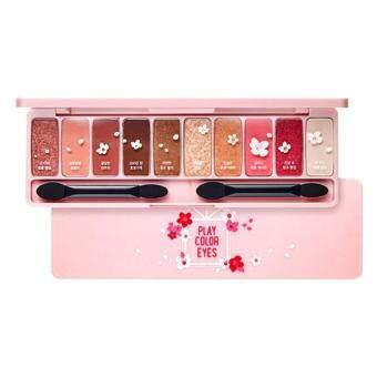 Etude House Play Color Eyes #Cherry blossomพาเลทอายแชโดว์โทนสีหวานๆ เกลี่ยง่าย ประกายชิมเมอร์